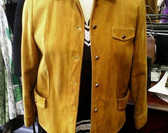 Late 50s Jacket | Fantastic Western Style Cowgirl Topper Jacket with lovely Brass Tone details - M