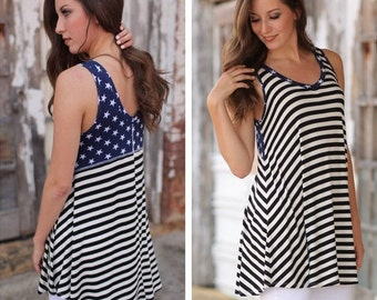 PATRIOTIC Stars and Stripes Tunic Dress for Women | Must-Have for Spring and Summer!