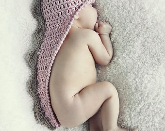 Newborn Crochet Dino HaT Pattern:  Dinosaur Hat with Tail, Newborn Photo Prop, 'Stegosaurus Sweet'