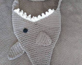 Crocheted Shark Bag