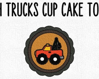 Tough Trucks Cup Cake Toppers