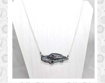 Laser engraved Supernatural Impala Necklace