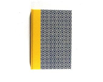 hand bound Address Book blue yellow quatrefoil
