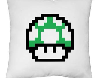 Cover cushion 40 x 40 cm - mushroom - video games - Yonacrea
