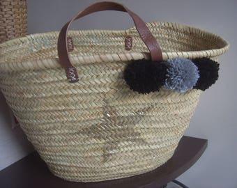 Nice basket tassel leather handles