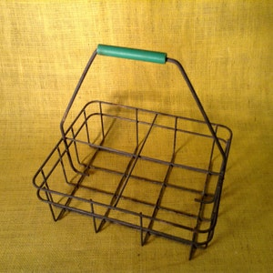 Milk Man Delivery Crate, Basket, Tote, Carrier - All Metal - Milkman Home Delivery