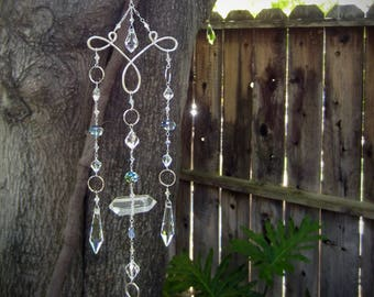 Sun Catcher Crystal Chandelier | Housewarming Handcrafted Gift | Feng Shui Rainbow Maker