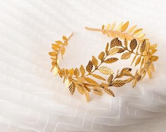 SALE! Gold/Silver Greek leaves Full Crown, Athena Greek Goddess Crown, Bridal Tiara, Woodland Queen Golden Tiara, Greek Hair Accessory