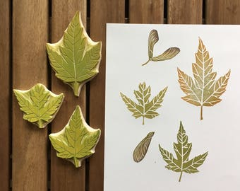 Maple Leaves Rubber Stamps