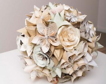 paper flower bouquet etsy