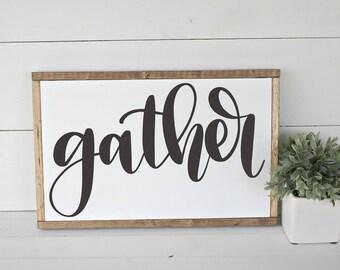Gather - Hand Lettered SVG