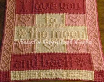 Moon & Back Bobble Blanket Crochet Pattern