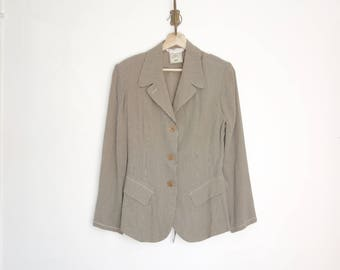 vintage 90s Max Studio striped lightweight jacket