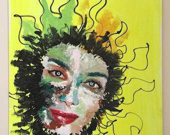 Sun Girl Acrylic painting