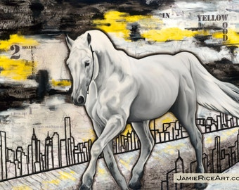 "White Horse, 13"" x 19"" Signed Art Print"