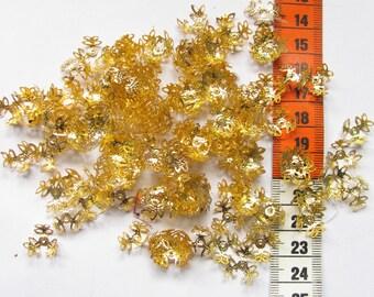 142 cups gold leaf 16mm in diameter