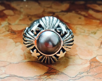 Neptune ring in solid 925 silver. Neptune Ring in silver 925 solid.