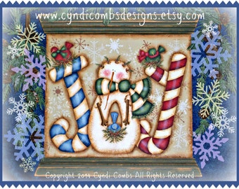 CC173 Joy Snowie Painting Pattern Packet By Mail