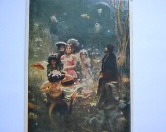 "Illustration by artist I.Repin ""Sadko"", Soviet Vintage 1950s postcard, Antique art postcard, Unused postcard, Printed in USSR, 1970s"