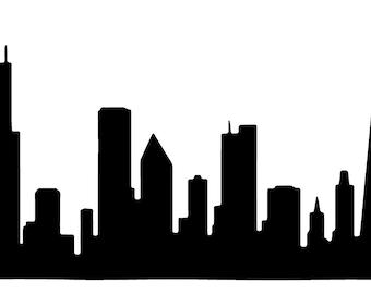 Chicago skyline decal sticker