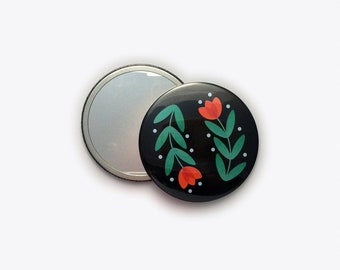 Folky Dokey Tulip Pocket Mirror