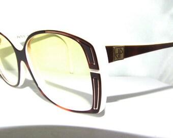 Vintage Jean Patou Paris Sunglasses // 80s 90s France // Yellow Gradient Lenses