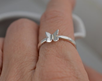 Butterfly Ring in Sterling Silver / Nature Ring / 925 / Insect / Bug
