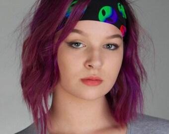 Running Headband - Non Slip Yoga headband - Rave Outfit - Fitness Headband UFO No Slip Alien headband Neon headband Workout Headband - TRIP