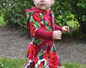 Lyra Hooded Dress PDF Pattern