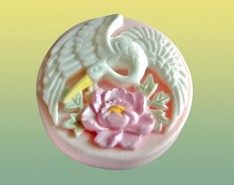 Crane and Peony  - Shea Butter Soap - Decorative Soap - Gift Soap
