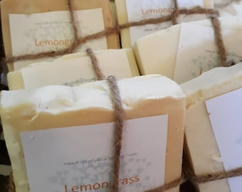 Hand Crafted LEMONGRASS Artesian Soap/ All Natural/ Gentle/ All Skin Types/ Olive oil/ VEGAN