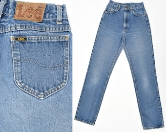 Vintage Lee Jeans Womens High Waisted Jeans Distressed Denim Jeans Mom Jeans Faded LEE Jeans Western Jeans Slim Fit Straight Leg Jeans 26 W