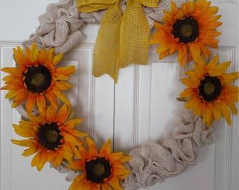 Country Sunflower wreath