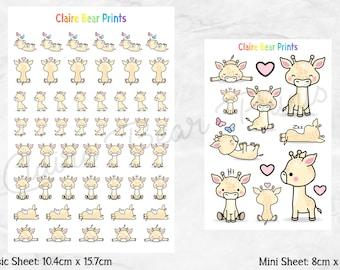 GIRAFFE Planner Stickers (2 options)