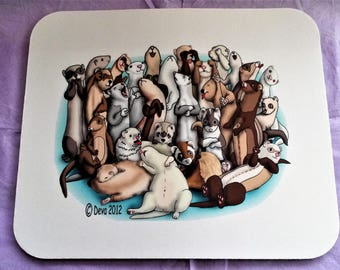 Ferret / Ferrets Bunch Mousepad