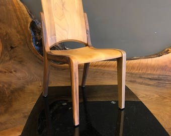 Impala X Wooden Chair, Walnut Chair, Dining Chair