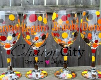 Personalized Wine Glass 20 oz bridal wedding birthday holidays