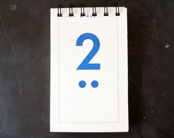 Vintage Flash Card Notebook, Number 2 (50 various pages) - Perfect for To-Do Lists, Shopping Lists, and Big Ideas