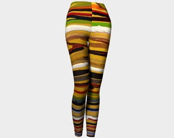 Cool Stripes Leggings: Your a wild cat women in these leggings. For spring or summer.