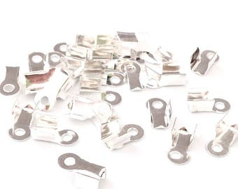 X 400 clasps antique silver 9x4mm ❤ ❤