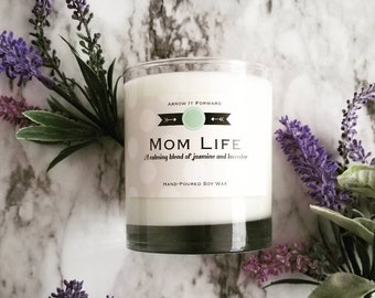 MOM LIFE Hand-Poured Soy Wax Candle