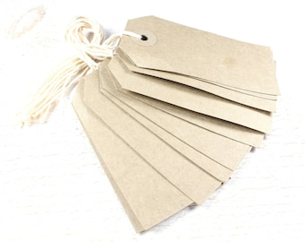10 tags pre-strung with twine + / 83mm x 41mm
