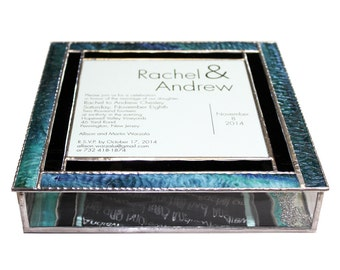 Stained Glass Wedding Invitation Keepsake Box