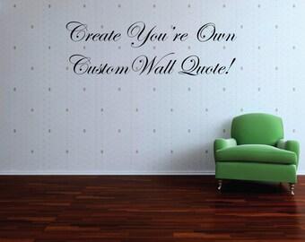 Custom Wall Decal | Etsy
