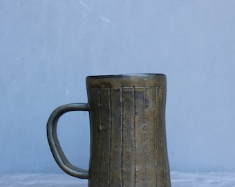 Ceramic Mug. Handmade Mug. Coffee Mug. Dark Brown Mug.
