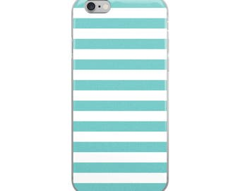 Aqua Stripes iPhone Case