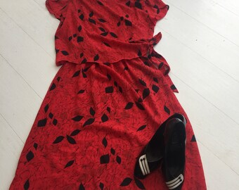 Vintage 'Thoughts I confess turn dirty' 80's dress