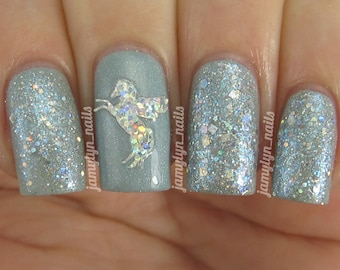 Silver Holo Glitter Top Coat Nail Polish by Black Dahlia Lacquer - Sparklefest