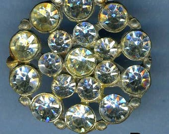 Vintage Glitzy Rhinestone 'D' Button