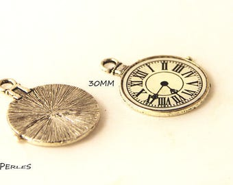 1 large 30mm dial clock charm